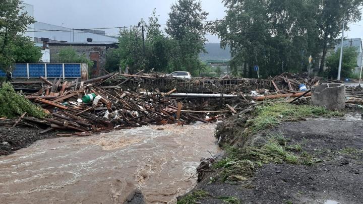 Спасатели рассказали, сколько домов разрушило наводнение в Нижних Сергах