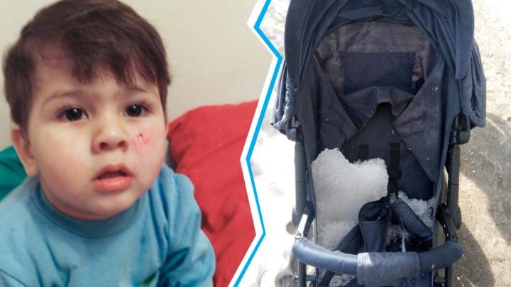 «Ребёнок был в шоковом состоянии»: льдина упала на детскую коляску недалеко от площади Калинина