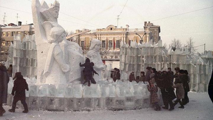 Его строили даже во время войны: история ледового городка, которого лишился Екатеринбург