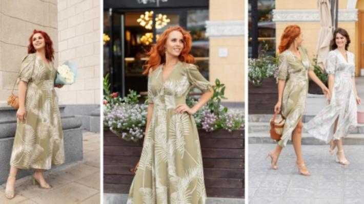 Песочные часы и асимметрия: нашли летние платья, в которых девушки любого размера выглядят стройнее