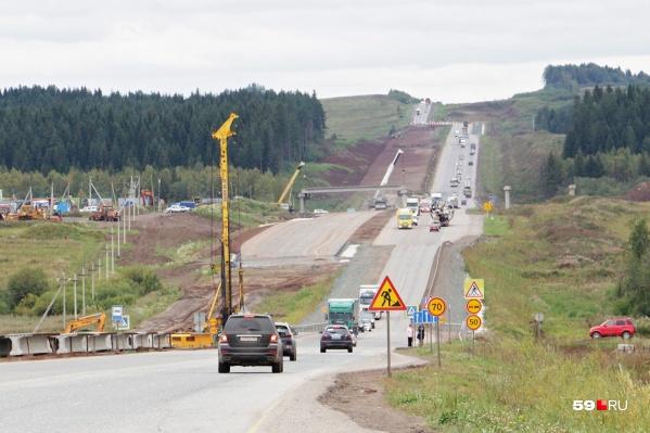 Участок дороги перекроют ради строительства надземного пешеходного перехода