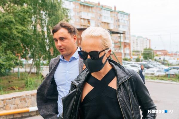 Сегодня Юлия Навальная пообщалась с местной прессой