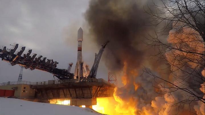 Ракета «Союз-2» стартовала с космодрома Плесецк и вывела на орбиту космический аппарат — видео
