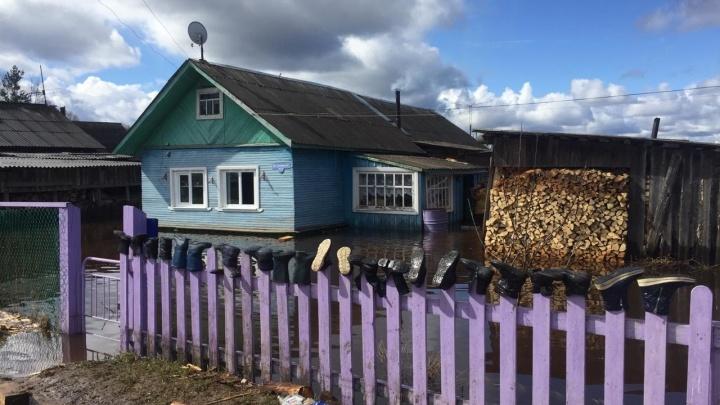 В девяти районах Архангельской области подтоплены территории у домов к 18 мая