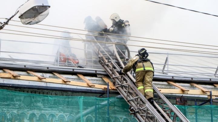 В МЧС назвали предварительную причину пожара в Литературном музее им. Горького