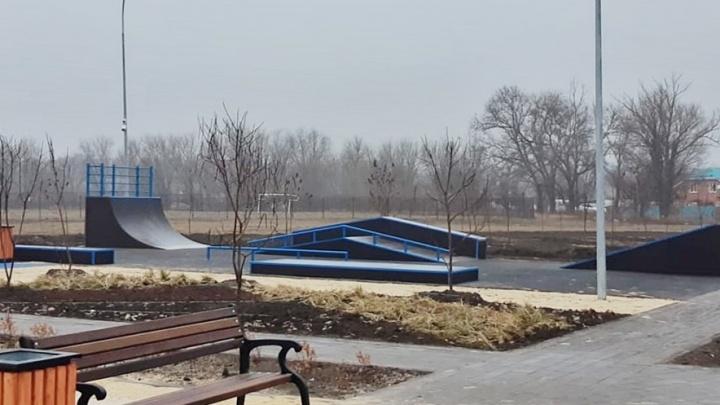 В Аксайском районе завершили строительство парка