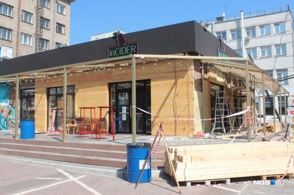Сидрерия открылась на ресторанном дворике за гостиницей «Центральная»