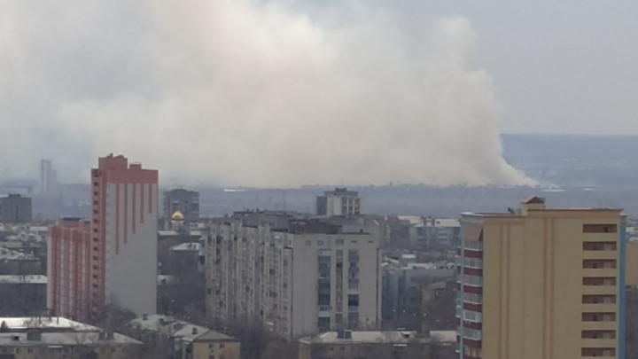 «Дым стеной»: в Южном городе загорелась сухая трава