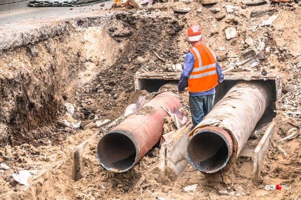 В этом году в Самаре подрядчики ремонтировали теплотрассы на участках общей протяженностью около 20 километров