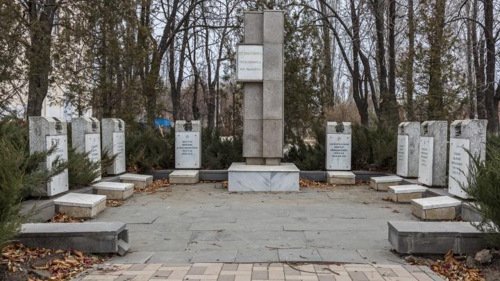 В Волгограде разрушился памятник воинам-интернационалистам, погибшим в Афганистане