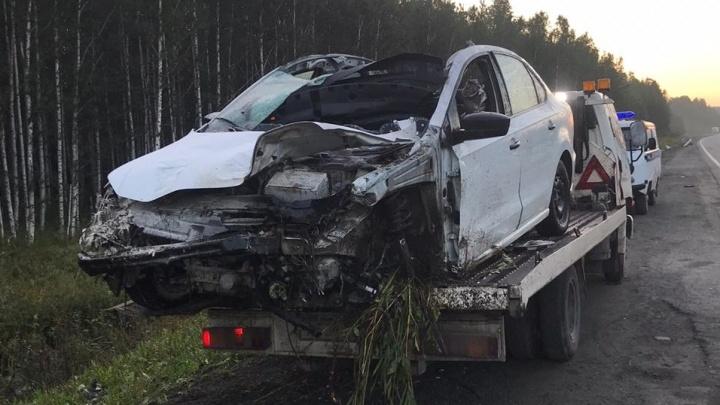 На трассе Пермь — Екатеринбург водитель Volkswagen сбил лося и погиб сам