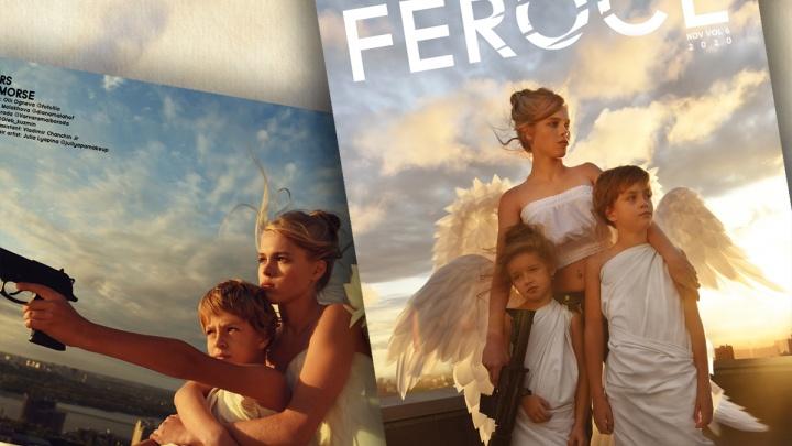 Экстремальные снимки из Новосибирска попали на обложку английского журнала — на них ангелы учатся стрелять