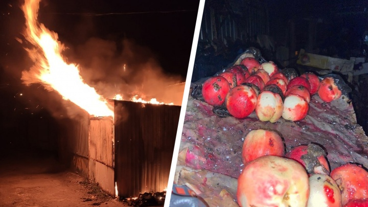 В Самаре ночью горел рынок «Шапито»