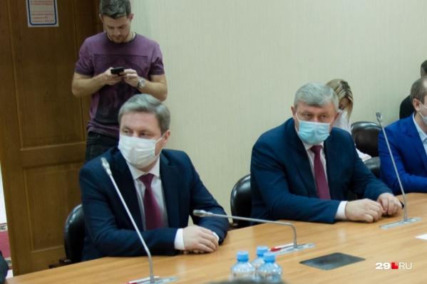 Кандидаты: Дмитрий Морев (слева) и Сергей Роднев (справа)