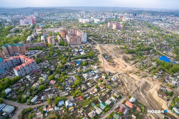 Снимок Николаевки со времен строительства новой развязки к 4-у мосту