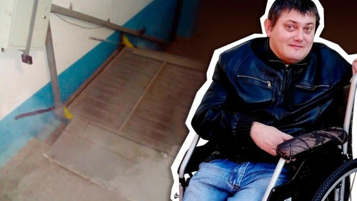 Челябинскому инвалиду, который начал сбор денег на ремонт подъёмника, пообещали решить проблему