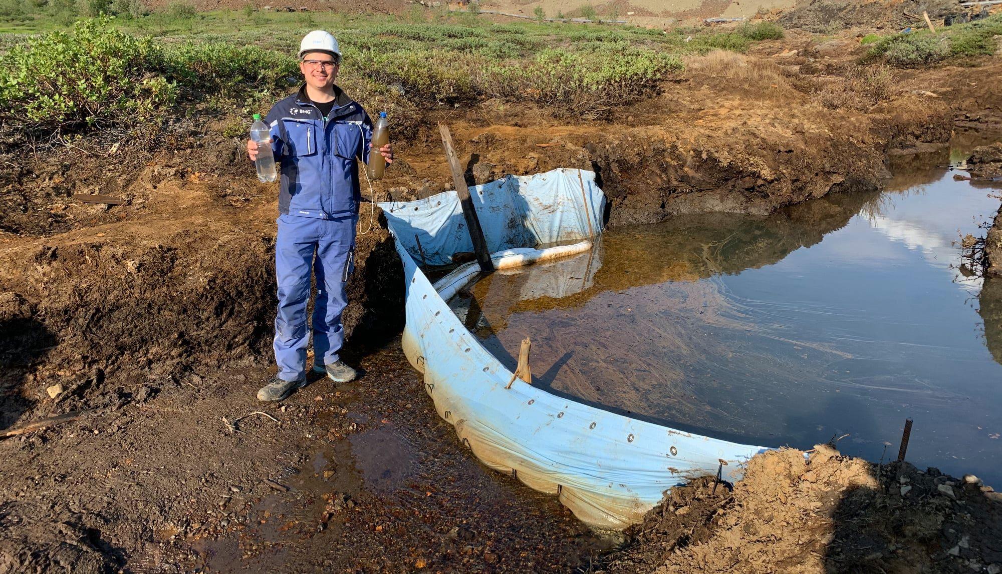Заградительные барьеры помогли локализовать загрязнение