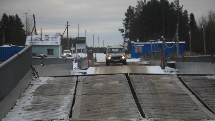 В Архангельской области начали разбирать понтонные переправы
