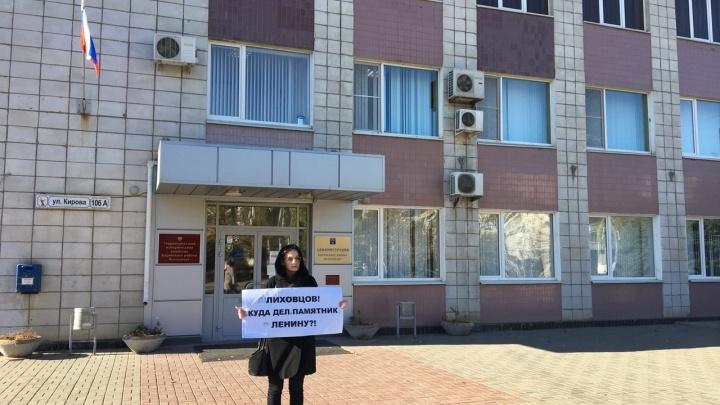 Коммунисты Волгограда требуют вернуть на место исчезнувший памятник Ленину