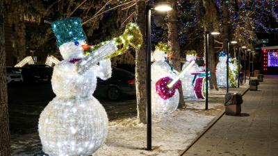 Снеговики-музыканты и герои сказок Пушкина: заражаемся новогодним настроением нижегородских улиц