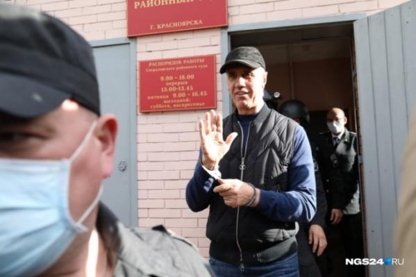 Кадры с момента задержания Быкова