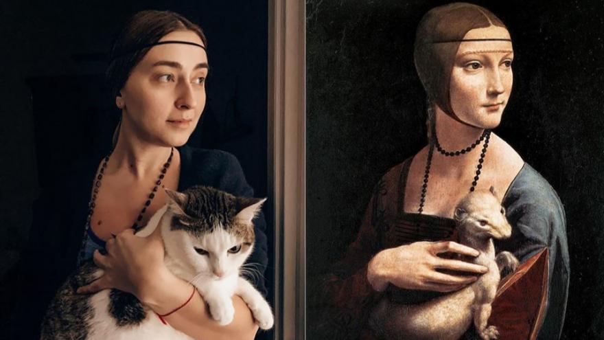 На самоизоляции люди от скуки позируют как герои известных картин. Это круто и смешно