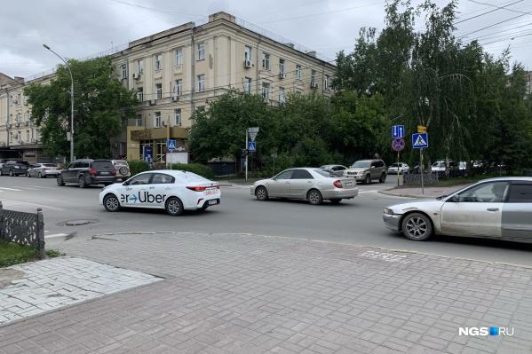 Пересечение улицы Ленина и Комсомольского проспекта