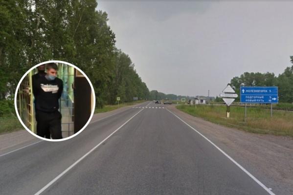 Мужчины вывезли похищенного человека на 7-й километр трассы Красноярск — Железногорск