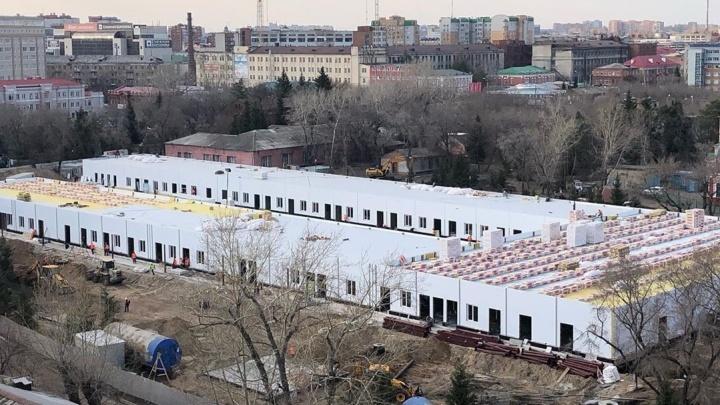 Появилось фото госпиталя для больных коронавирусом, который должны построить в Омске за два месяца