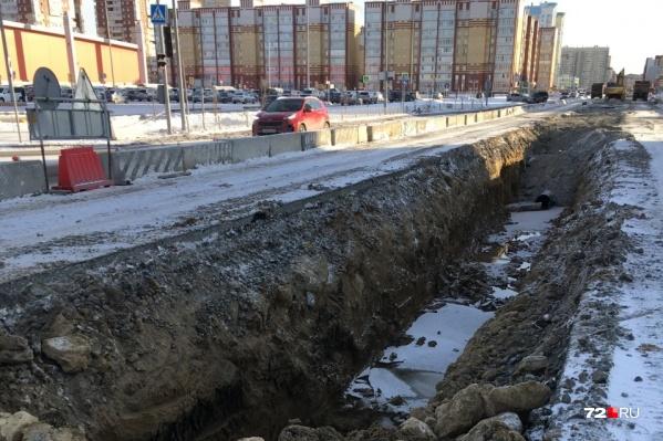 Работы по ремонту ливнёвки на Менделеева начались в ноябре 2019 года