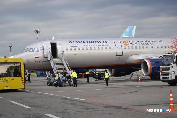 Самолёт приземлился в Омске