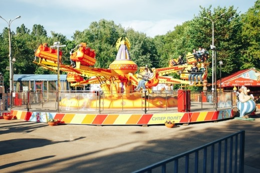 В парке Гагарина есть и взрослые забавы