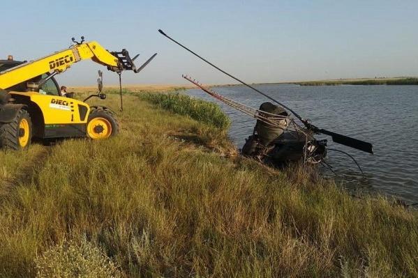 Ми-2 разбился на территории рисовых чеков