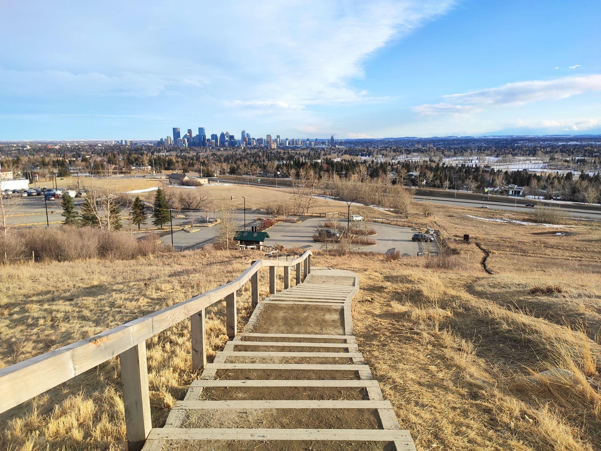 Это вид на даунтаун одного из отдаленных парков города. Тут даже олени свободно пасутся. Но это всё ещё город, а не пригород<br>