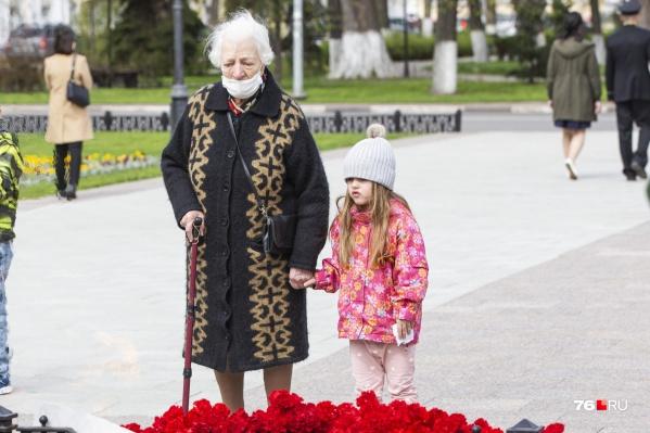 9 Мая в Ярославле праздновали скромно