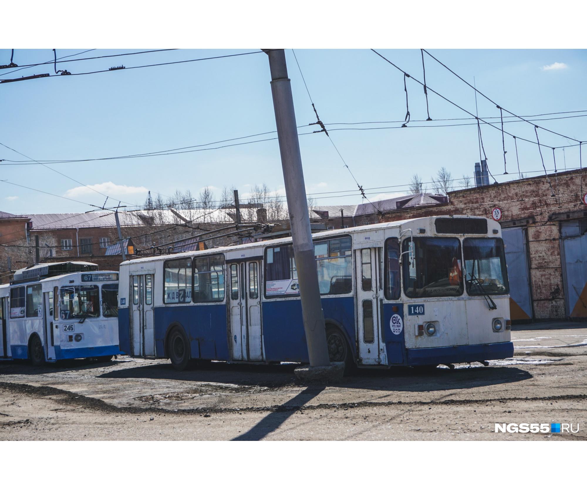 Многие троллейбусы уже давно отработали свой срок