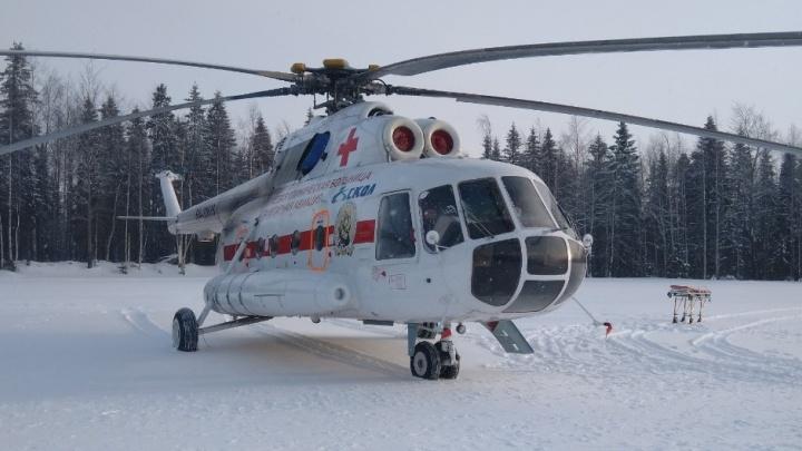 С начала года в Прикамье вертолетом санавиации перевезли 164 пациента с COVID-19 и подозрением на него