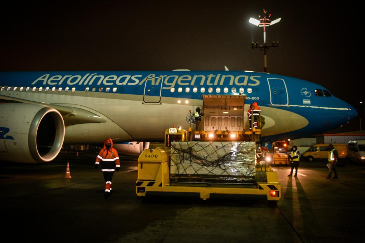 поставка«Спутника V» в Аргентину 23 декабря 2020 года