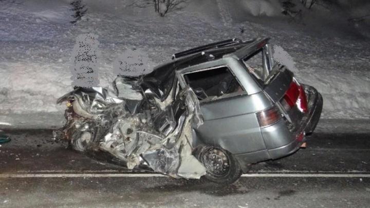 В Прикамье в ДТП с двумя КАМАЗами погиб 25-летний водитель «Богдана»