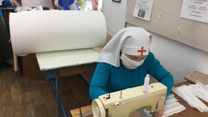 В Кургане медицинские маски начали шить сестры милосердия