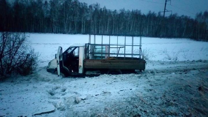 Водитель не справился с управлением: в Зауралье «Газель» вылетела с трассы