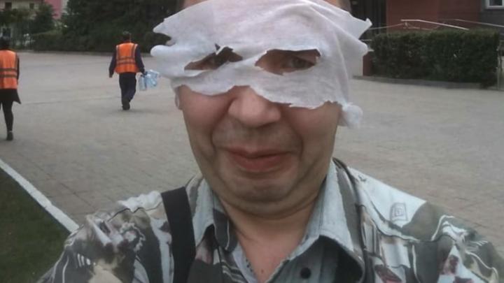 В Новосибирске инвалида оштрафовали на 1000 рублей за странное ношение маски (правда очень странное)