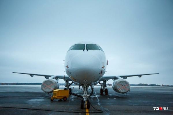 Самолет прилетел в Тюмень из Москвы