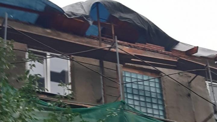 Челябинским домом, затопленным дождём во время капремонта, заинтересовалась прокуратура