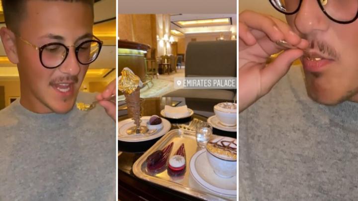 Сын самарского олигарха Алексея Шаповалова опубликовал ролик, в котором ест золото