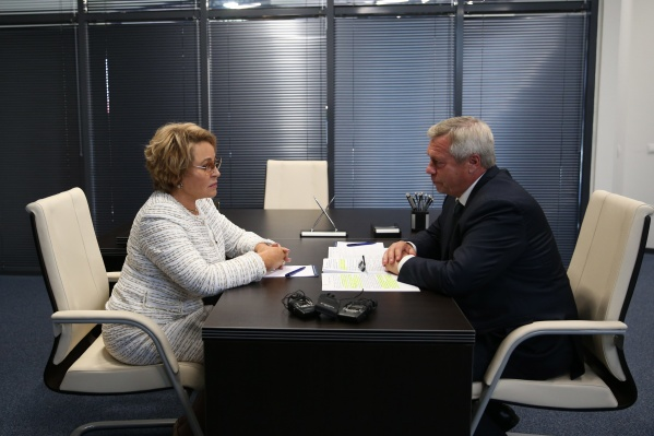 Валентина Матвиенко и Василий Голубев