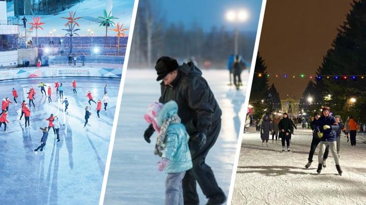 Карта всех катков Красноярска — цены, расписание, адреса и телефоны