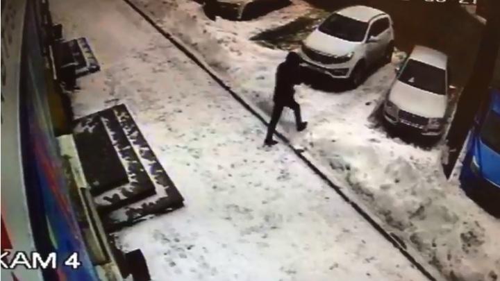 В Екатеринбурге наглый воришка вытащил из машины рюкзак с документами и попал на видео