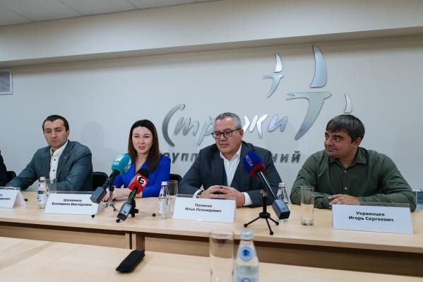 Участники «Лиги эффективности» слева направо: Степан Сафонкин, Екатерина Шалимова, Илья Поляков, Игорь Украинцев