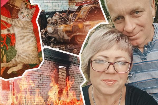 «Сгорела вся жизнь за 50 лет»: после страшного пожара беженцы из Луганска поселились в маленькой пристройке